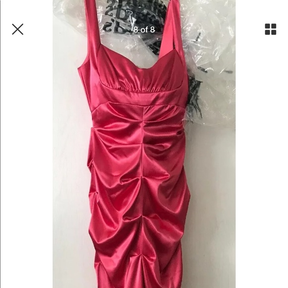6ba4e14466f Xscape Dillard s mermaid formal hot pink dress NWT